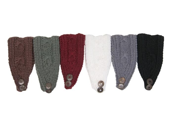 Miniature Knitting Patterns : Wholesale Headbands - Cross Pattern Knit Headwrap for Women