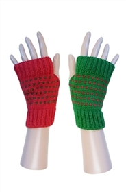 Opposite Colors Fingerless Gloves