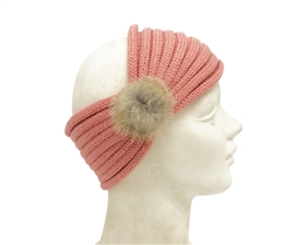 Wholesale Knit Headbands with Pom