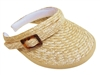 wholesale clip-on wheat straw visor  bow