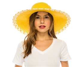 Wholesale Sun Hats Wide Brim Hat Criss Cross Edge