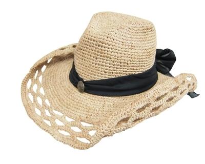 Crochet Raffia Cowboy Hat Pattern : Wholesale Cowgirl Hats - Raffia Straw