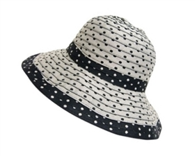 wholesale sun hats shapeable polka dots
