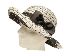 wholesale sun hats with bow shapeable polka dots