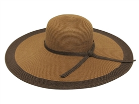 wholesale extra-wide brim 2-tone sun hat