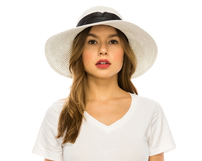 Wholesale Sun Hats Wide Brim Backless Hat With Bow