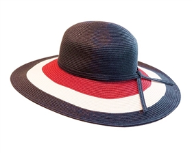 wholesale red white blue sun hat