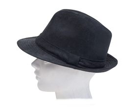 black fedora hat wholesale 3 dollars faux suede