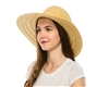 wholesale floppy straw hats - mixed braid