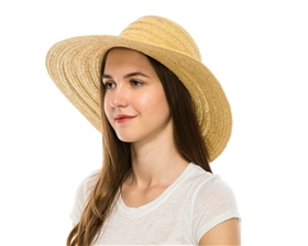 wholesale floppy straw hats - mixed braid Wide Brim Women's Sun Hat