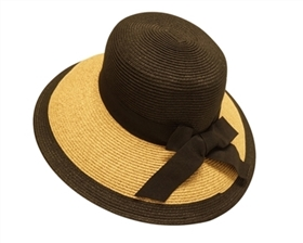 wholesale fashion hats straw bucket hat with bow