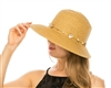 Wholesale Womens Straw Hats - Lampshade Hat with Shells