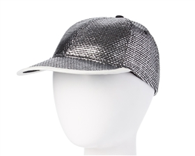 wholesale womens baseball caps - metallic straw dad hat