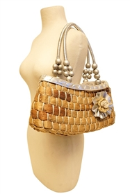 wholesale east-west straw purse