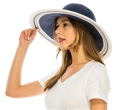 wholesale straw sun hats - womens wide brim hat