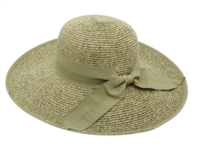 wholesale sun protection hats - womens wide brim hat with bow