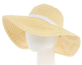 Wholesale Floppy Sun Hats - Two-tone Women's Wide Brim Hat