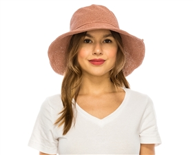 Wholesale Straw Hats - Toyo Turn Up Bucket Hats