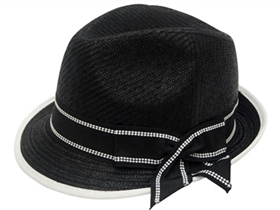 wholesale straw fedora  contrast bow