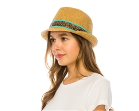 wholesale fedora  color leopard band