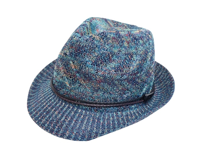 Knitting Pattern Trilby Hat : 8019 Space Dyed Knitted Fedora