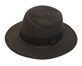 Wholesale Women's Panama Hats - Straw with Jazzy Design