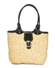 wholesale wheat straw handbag  patent vinyl
