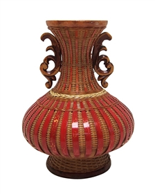 wholesale wicker flower vases bamboo
