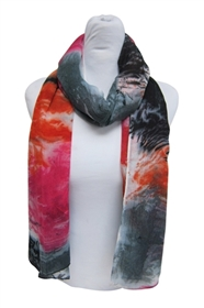 wholesale watercolor print scarf one dozen