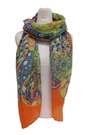 wholesale psychedelic circles scarf one dozen