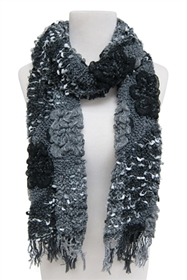wholesale textured patchwork scarf