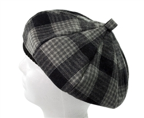 wholesale flannel plaid beret hats
