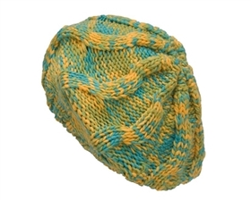 wholesale 3-tone knit beret & scarf