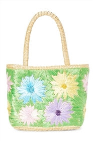 wholesale straw bag flower handbag pair