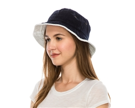 Wholesale Blank Bucket Hats - Canvas Womens Hat - Fits Junior Men and Kids