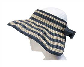 wholesale rollup visors sun hats nautical stripes