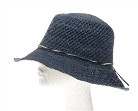 Wholesale Fine Raffia Crochet Small Brim Sun Hat