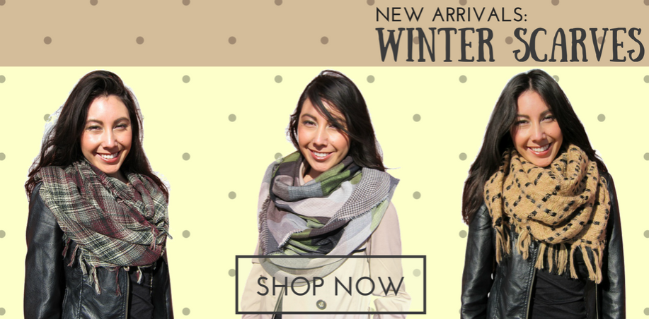 Wholesale Winter Fall Scarves Los Angeles