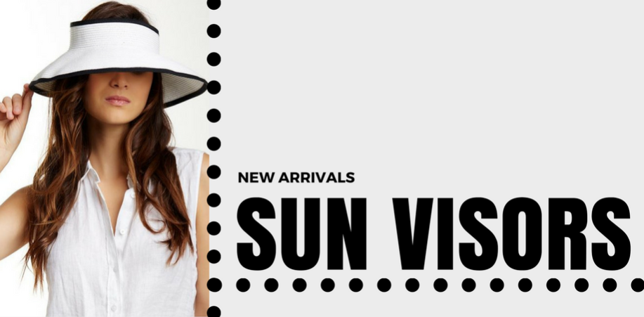 Wholesale Sun Visors - Sun Visor Hats Wholesale - Roll Up Visors Clip On Straw Sun Visor Hats