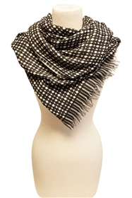 wholesale plaid scarves woven dots