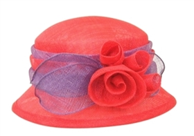 wholesale sinamay hats bucket hat with flowers