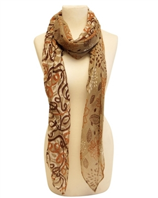 wholesale lotus flower summer scarves los angeles california
