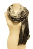 wholesale soft knit scarf - tie dyed