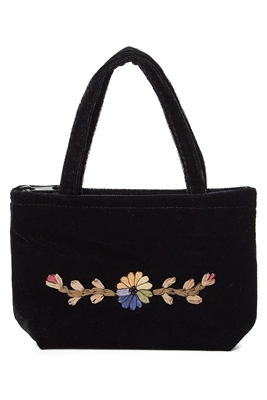 wholesale small velvet purse  embroidery