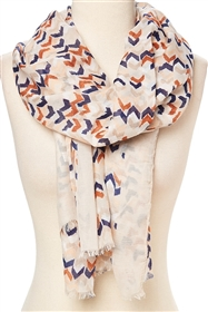 wholesale summer scarves - chevron pattern