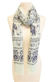 wholesale elephant print scarves