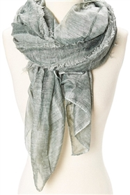 wholesale ladies scarves frayed stripe stonewash