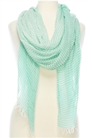 1052 Thin Stripes Summer Scarf