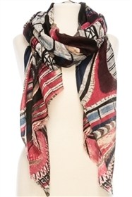Wholesale Painted Swirl Scarf