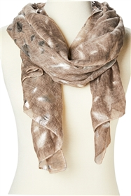Wholesale Silver Feather Print Scarf